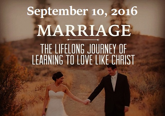When a man and a woman decide to dedicate their lives together in a marriage based on Jesus Christ, it is truly an amazing event! It makes us want to sing with joy, and that's exactly what we'll be doing on September 10.