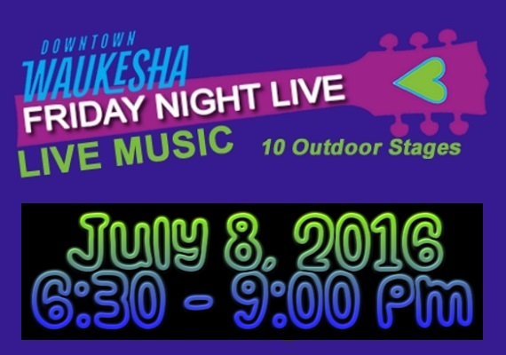 On July 8, Night Divine takes the stage as part of the legendary Waukesha Friday Night Live series! Thousands of people like you come to Waukesha's Friday Night Live every year. What started out over 15 years ago with a couple of musicians playing and singing under a single tent has blossomed into a huge event in downtown Waukesha.